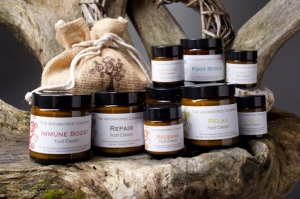 Our Complete Range of Foot Creams, plus our Foot Scrub - Available in 120ml and 30ml jars